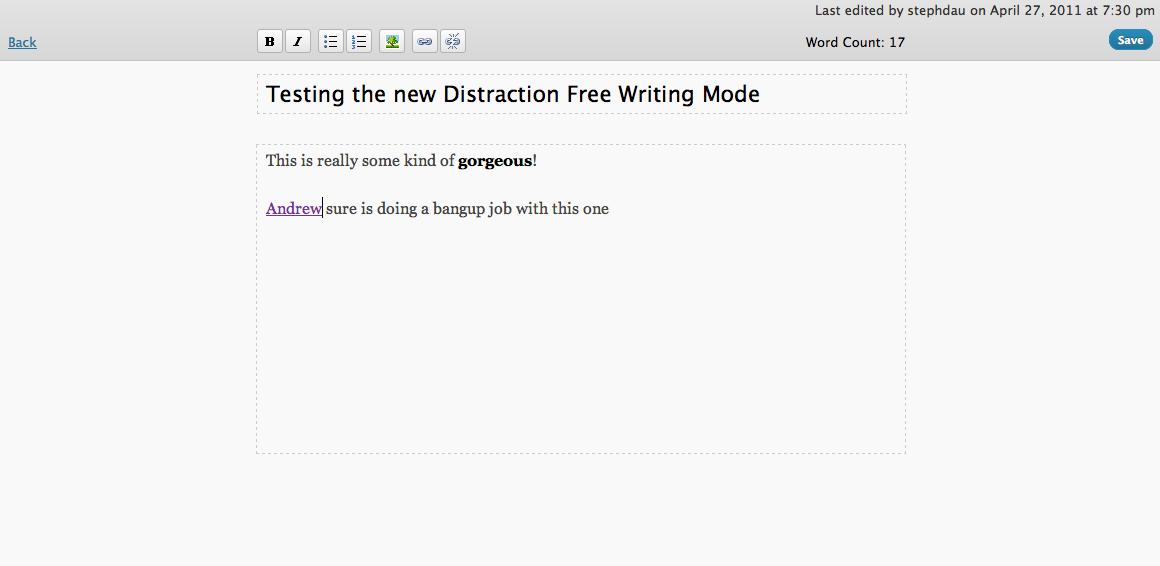 WordPress 3.2 превью