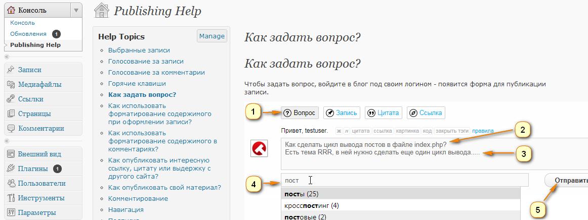 Как создать раздел с онлайновой документацией | WP Help | n-wp.ru