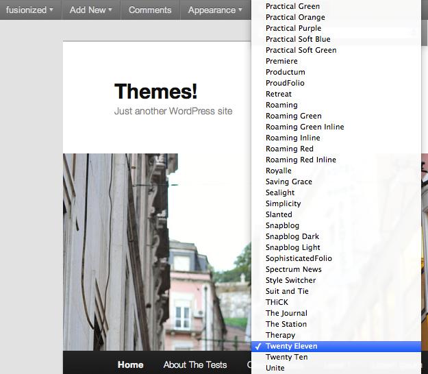 Как менять тему, используя Admin Bar | Admin Bar Theme Switcher