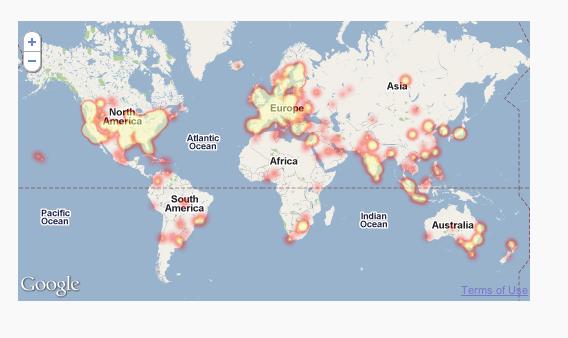 Как показать на карте, откуда пришли пользователи | PulseMaps Visitor Map Plugin | n-wp.ru