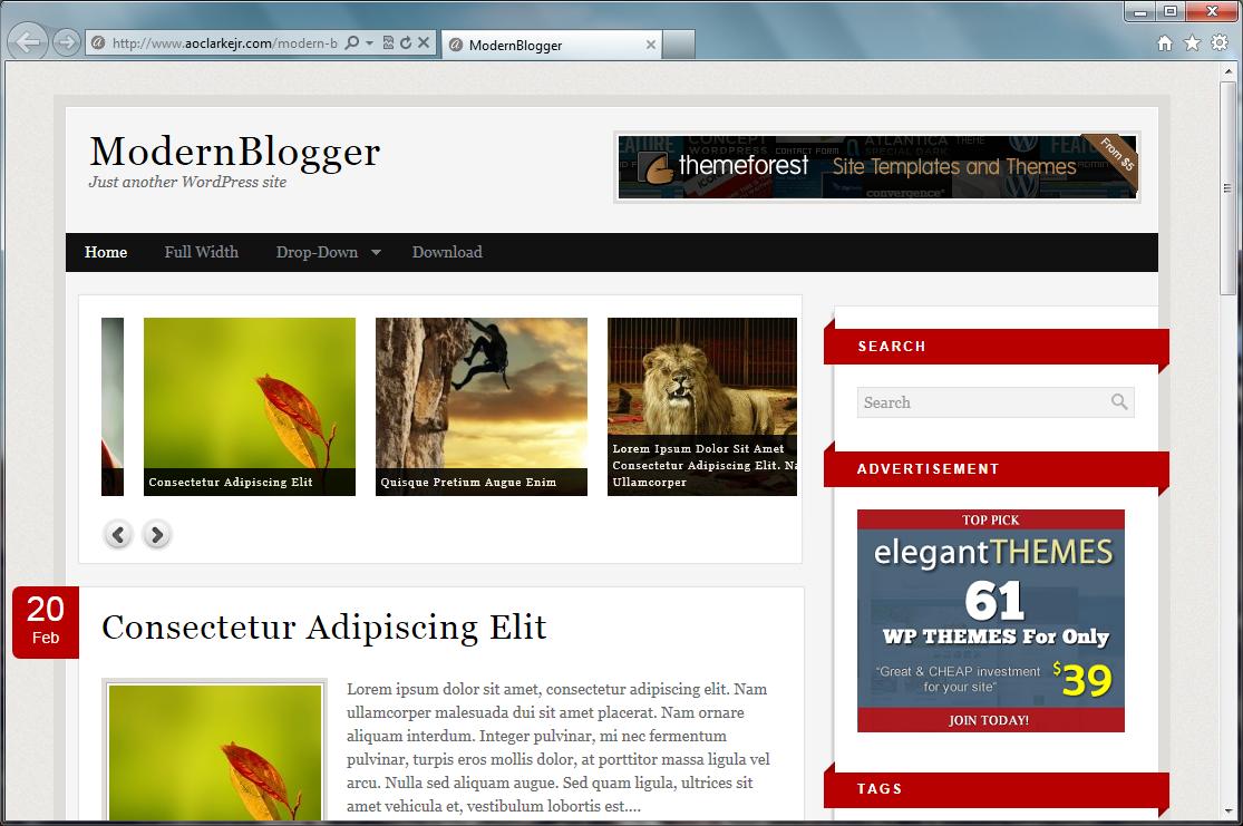 Modern Blogger - современная тема с широкими возможностями | n-wp.ru