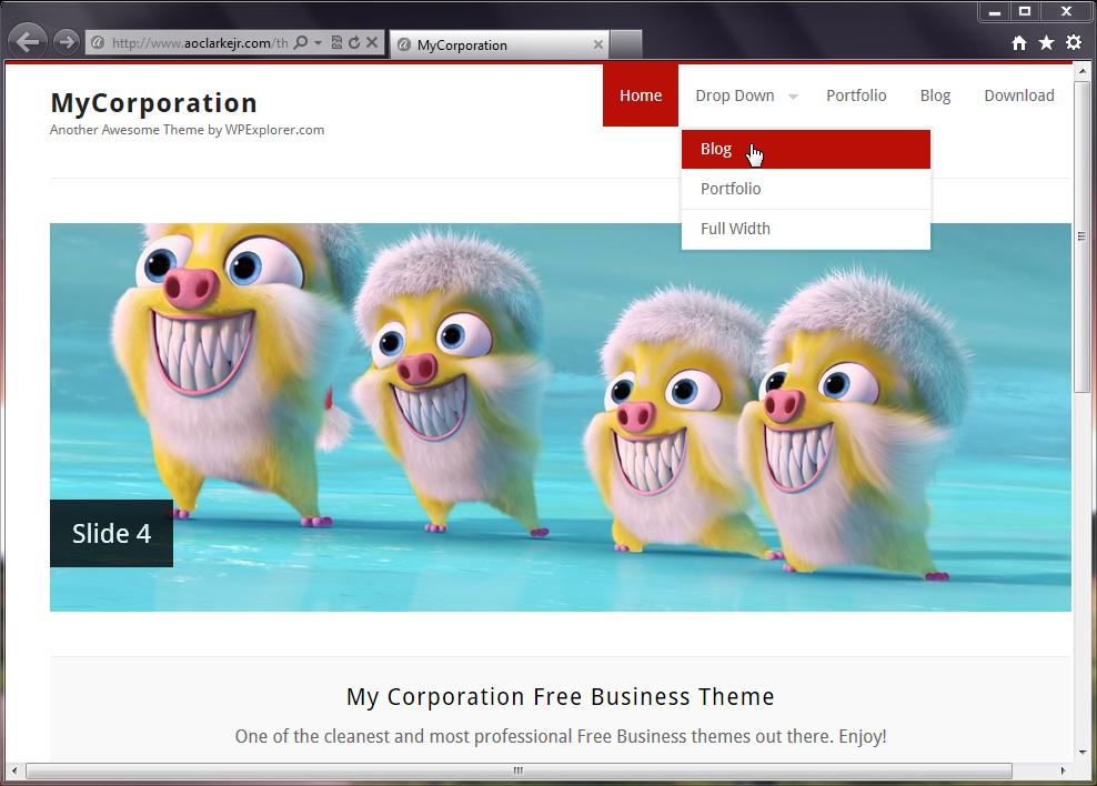 My Corporation - аккуратная тема для портфолио