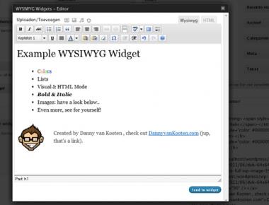 Визуальный редактор для виджетов   WYSIWYG Widgets   n-wp.ru