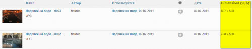 Как добавить в библиотеку изображений дополнительную колонку с размерами картинок | n-wp.ru