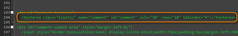 Как сделать текстовое поле в форме комментирования автоматически растягивающимся | n-wp.ru