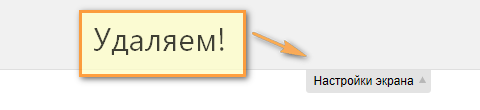Как удалить панель «Настройки экрана» | n-wp.ru