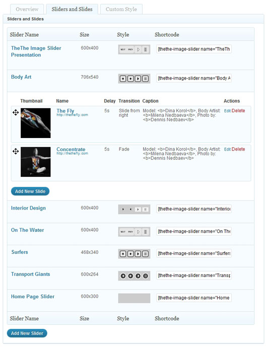 Как добавить в блог слайдер с картинками | TheThe Image Slider (3)