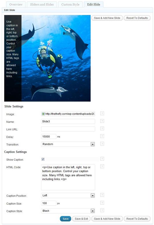Как добавить в блог слайдер с картинками | TheThe Image Slider (2)