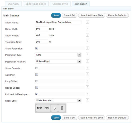 Как добавить в блог слайдер с картинками | TheThe Image Slider (1)