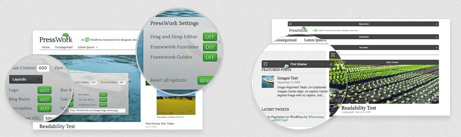 PressWork - чистая тема на HTML5 и CSS3 с уникальными возможностями индивидуальной настройки