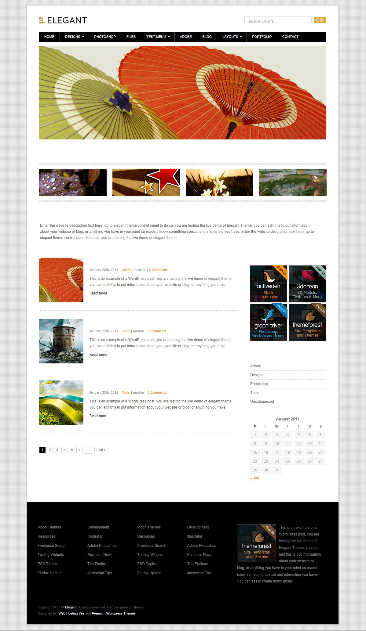 Elegant - красивая современная тема для креативных блоггеров