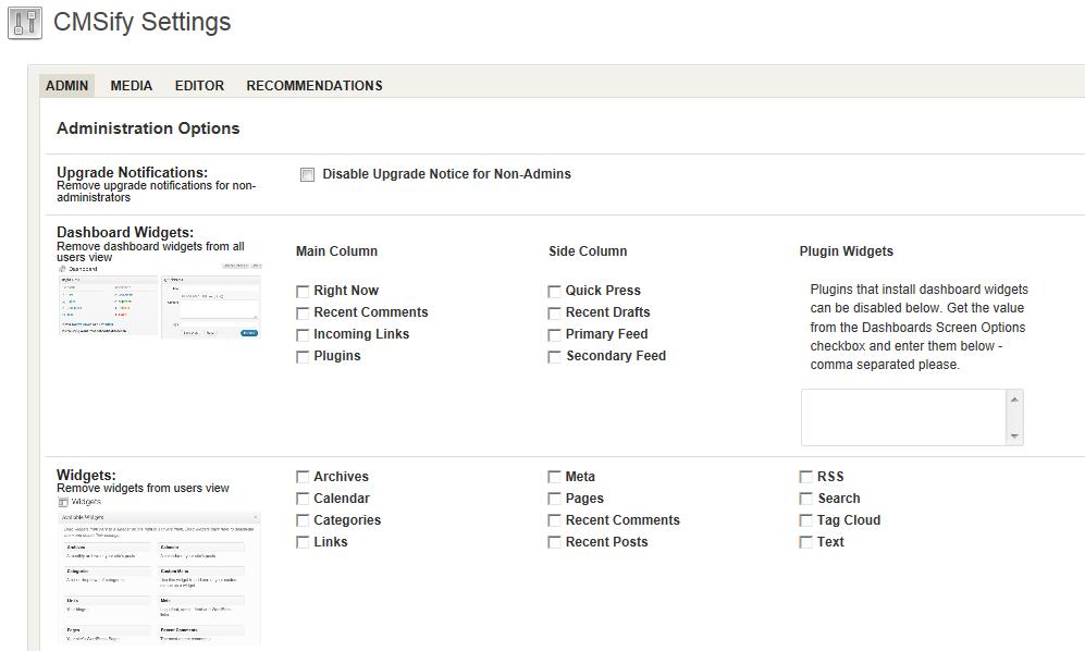 Как упростить настройку административного раздела | CMSify