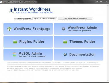 Как установить WordPress локально на компьютере | Instant WordPress | n-wp.ru