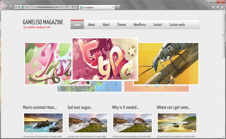 Gameliso Magazine - табличная тема с интересными слайдерами | n-wp.ru