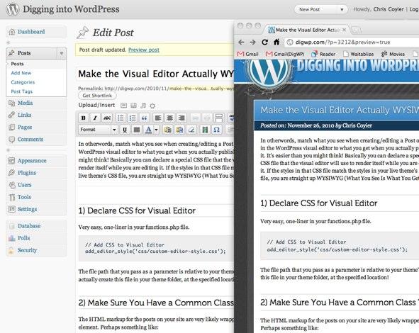 Как сделать визуальный редактор WYSIWYG-редактором | n-wp.ru
