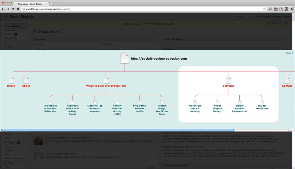 Как сделать графическую карту блога | Graphic WP Sitemap