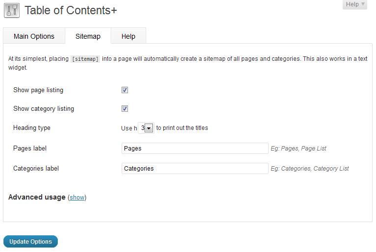 Как создать структуру большой статьи | Table of Contents Plus