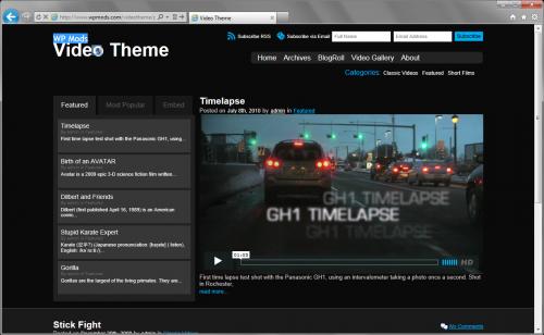 WP Mods Video Theme - темная тема для видео блога | n-wp.ru