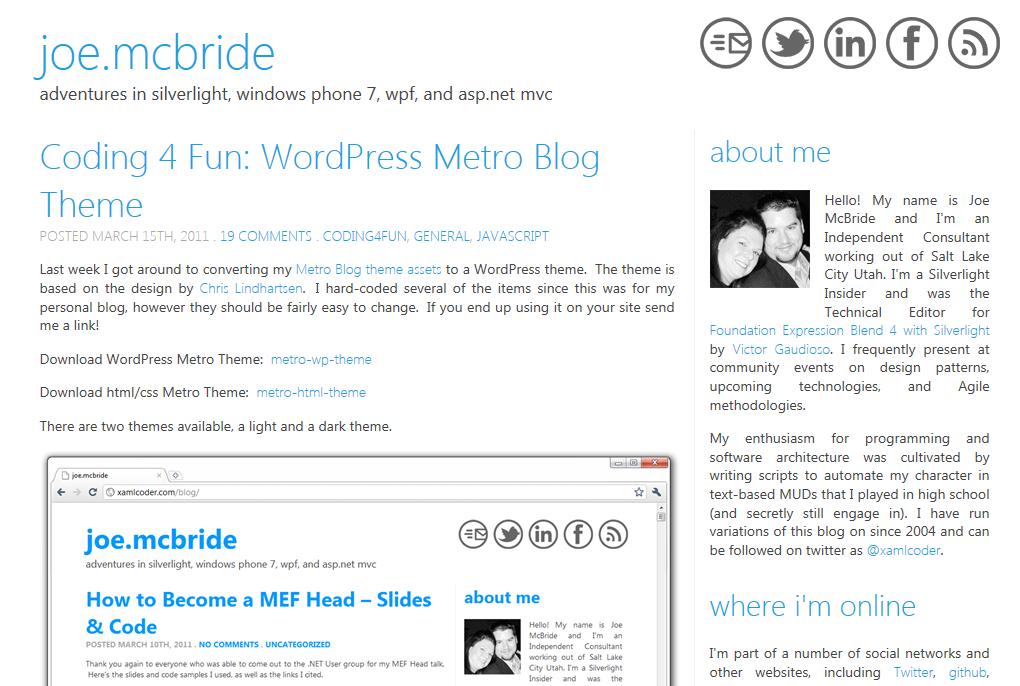 Две темы для WordPress в стиле Metro UI | n-wp.ru