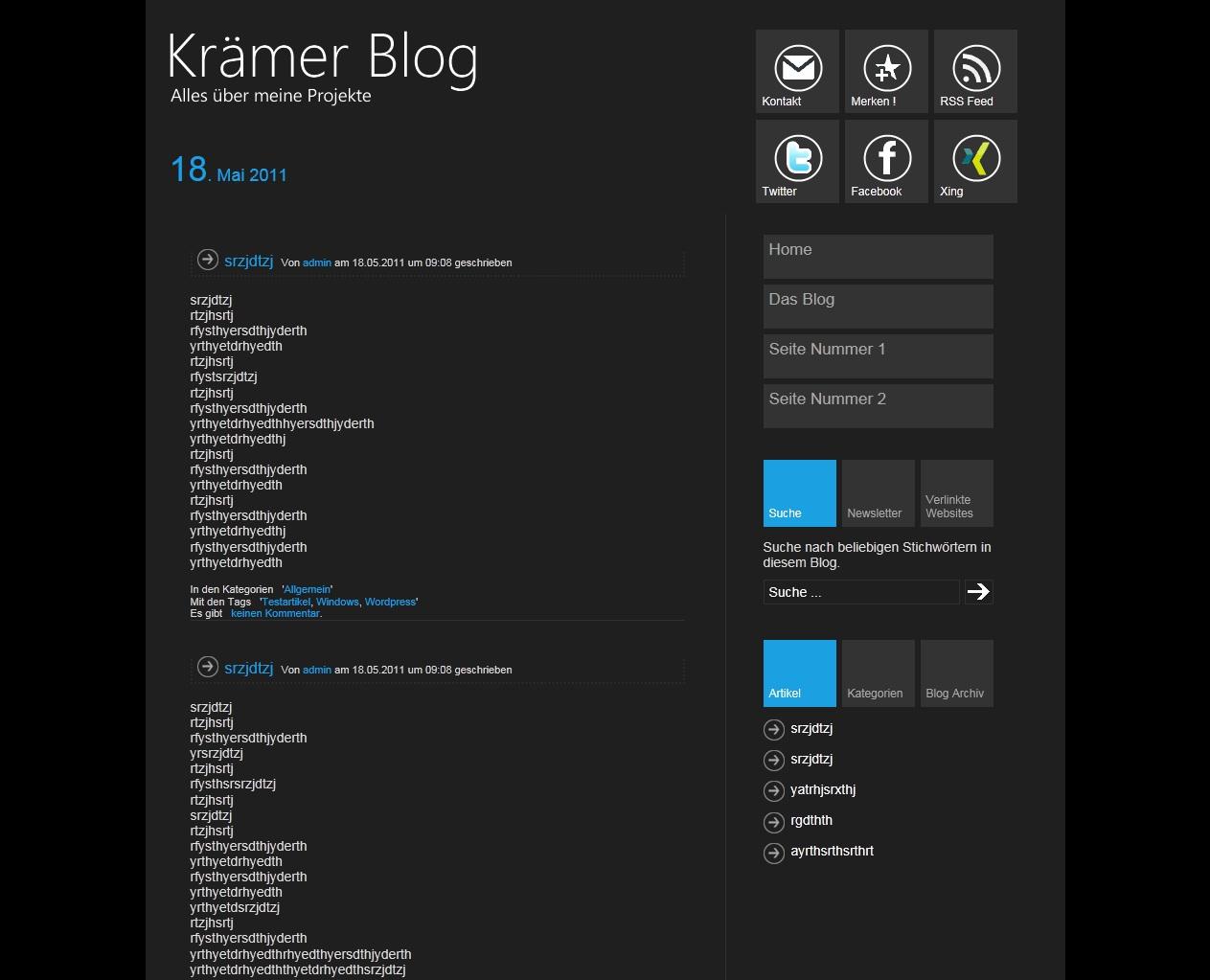 Две темы для WordPress в стиле Metro UI
