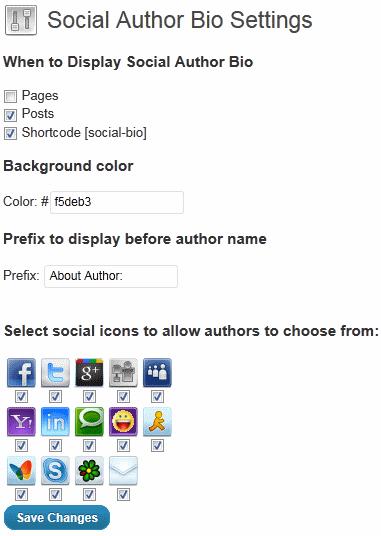 Как добавить социальные контакты автора поста | Social Author Bio