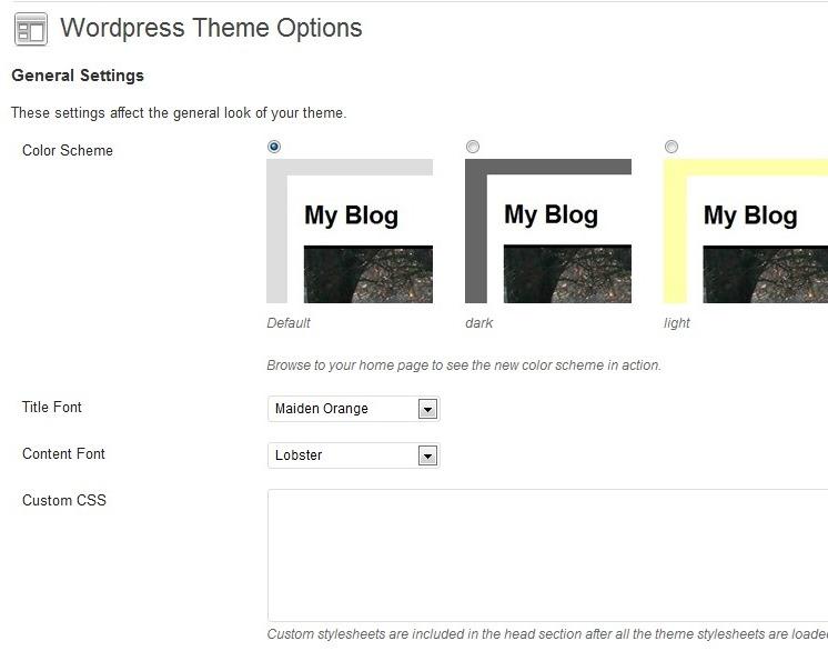 Как добавить раздел настроек темы и изменить цвета блога | WP Theme Options | n-wp.ru