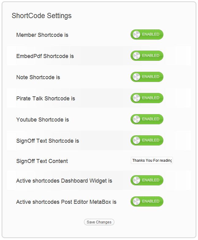 Как добавить список шорткодов в редактор   Shortcode Collection