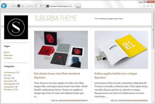 Suburbia - простая тема для создания фотоблога и портфолио | n-wp.ru