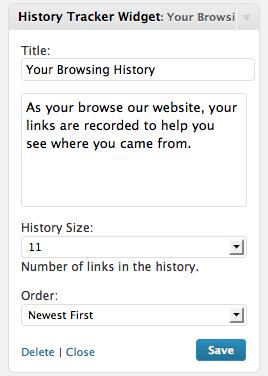 Как вывести историю посещенных в блоге страниц | History Tracker