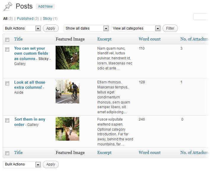 Codepress Admin Columns - плагин для управления колонками данных в административной части блога | n-wp.ru
