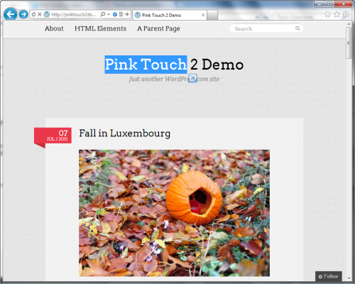 Pink Touch 2 - простая и элегантная тема для личного блога | n-wp.ru