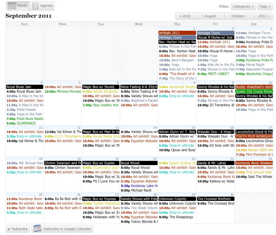 All-in-One Event Calendar - плагин для создания мощного календаря и системы событий (8)