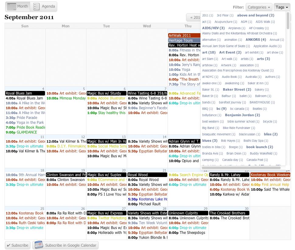 All-in-One Event Calendar - плагин для создания мощного календаря и системы событий (5)