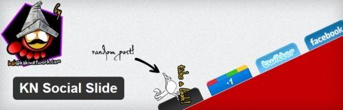 KN Social Slide - плагин для отображения плавающих социальных кнопок | n-wp.ru