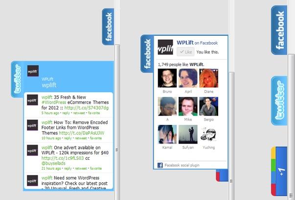 KN Social Slide - плагин для отображения плавающих социальных кнопок (2)