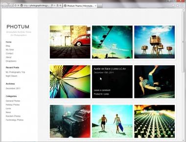 Photum - простая тема для фотоблога и портфолио | n-wp.ru