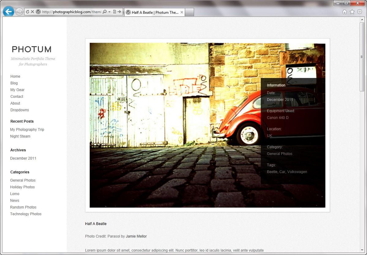 Photum - простая тема для фотоблога и портфолио (2)