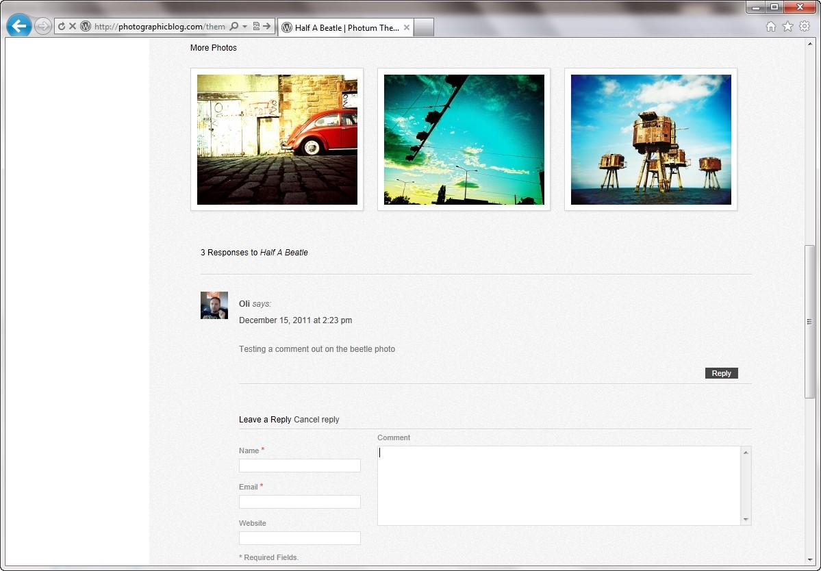 Photum - простая тема для фотоблога и портфолио (1)
