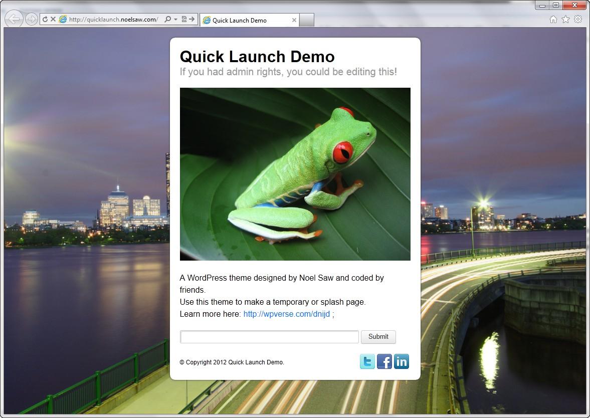 QuickLaunch - красивая тема для страницы-заглушки | n-wp.ru