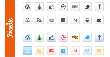 Minimal Social Icon Set - полностью бесплатный набор социальных иконок   n-wp.ru