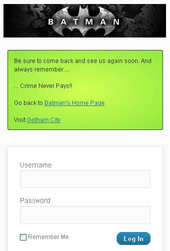 Как создать индивидуальное сообщение на странице входа - Custom Welcome Messages (4)