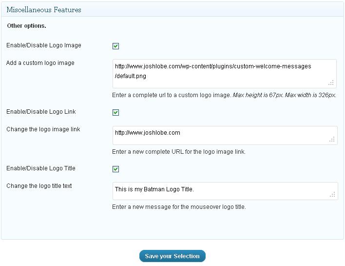Как создать индивидуальное сообщение на странице входа - Custom Welcome Messages (1)