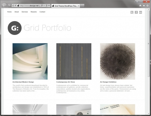 Grid Portfolio - минималистичная тема для фотоблога и портфолио | n-wp.ru