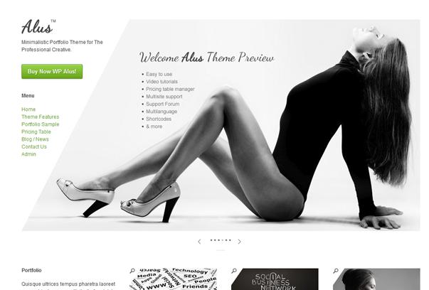 30 премиум тем для портфолио на WordPress - Alus