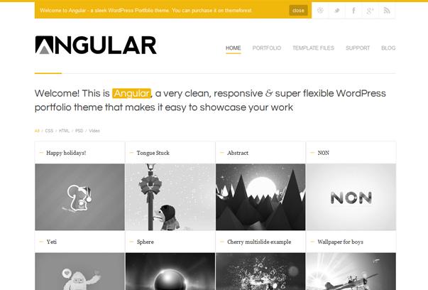30 премиум тем для портфолио на WordPress - Angular