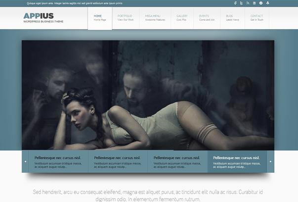 30 премиум тем для портфолио на WordPress - Appius