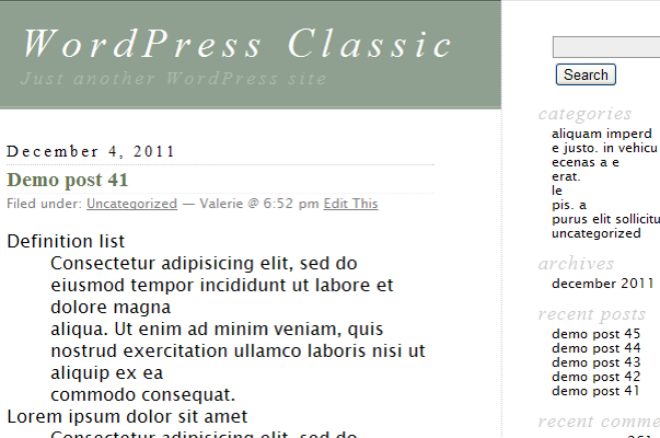 История развитие дефолтных тем WordPress
