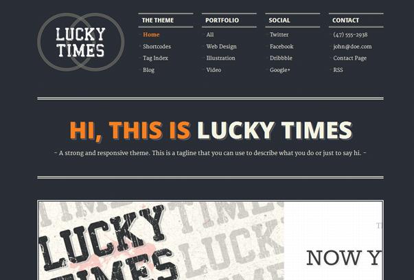 30 премиум тем для портфолио на WordPress - Lucky Times