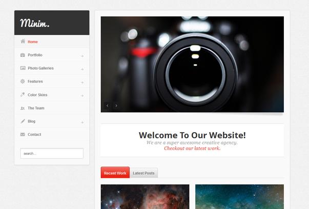 30 премиум тем для портфолио на WordPress - Minim
