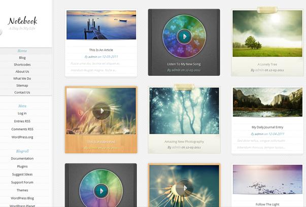 30 премиум тем для портфолио на WordPress - Notebook